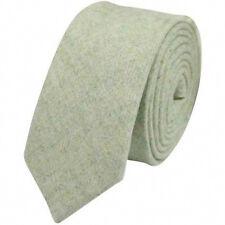 Vintage Green Mens Tweed / Wool Skinny Tie. Excellent Quality & Reviews. UK.