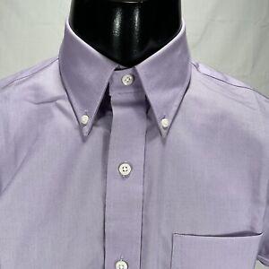 Lauren Ralph Lauren Black Label Slim Fit Stretch Dress Shirt 15 34/35 Purple
