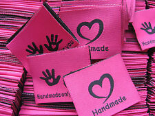 50 Pcs woven LABEL Sew-on patch LABELS SIGN HANDMADE only for you 5,50cm