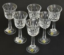 "Waterford Crystal ~ Roscrea Cut ~ Set Of Six 7"" Claret Wine Glasses ~ New Irish"