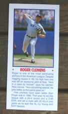 """Roger Clemens 5""""X11"""" Photo Placard Booklet Cover Cut Mint Oddball"""