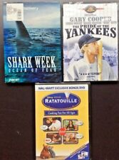 Lot of 3 DVD's: The Pride of the Yankees, Ratatouille: Cooking Fun.., Shark Week