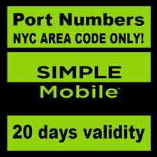 Simple Mobile |Numbers to Port| NYC Area Code ONLY! | SIMPLE MOBILE NY area code
