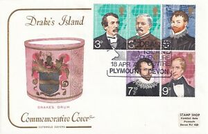 1973 British Explores Full Set Drakes Island Plymouth Official Cotswold FDC