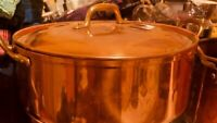 Beautiful Antique Copper pan with a lid