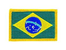 Toppe Toppa PATCH BRASILE 7x4,5cm Bandiera banderina ricamata termoadesivo