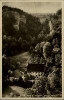 Schauertal bei Streitberg AK 1936 gelaufen Blick in das Tal Wald Felsen Häuser