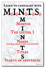 Mints- New Classroom Reading and Writing Poster