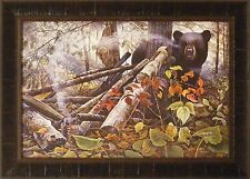 END OF THE TRAIL by Chris Kuehn 20x28 FRAMED PRINT Black Bear Hunting