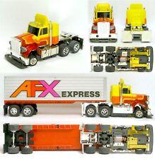 1979 Aurora AFX Speedsteer TCR Peterbilt Tractor & Trailer Combo Slot less Car