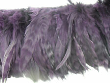 25+ PLUM CHINCHILLA GRIZZLY SCHLAPPEN CRAFT HAIR FEATHER 4-6""