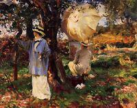 "Oi painting John Singer Sargent - The Sketchers Artists in forest landscape 36"""