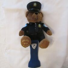 MONTREAL POLICE 911 INFO CRIME SPVM BEAR GOLF HEADCOVER FLIK mascot PLUSH doll