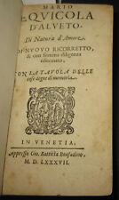 1587 Mario Equicola.  Di Natura D'Amore, Platone, Marsilio Ficino. Rara edizione