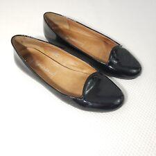 Jeffrey Campbell Women's 7 Havana Last Black Faux Patent Leather Ballet Flats