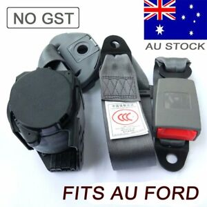 Grey 3points Sash Seat Belt Seatbelts Extender Strap Retractor Quality Fits Ford