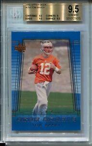 2000 Upper Deck Football #254 Tom Brady Rookie Card RC Graded BGS Gem Mint 9.5
