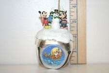 Mickey Mouse Sleigh Bell Ornament - On With The Snow - Minnie - Ashton Drake