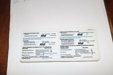 Nos Pacific Bell Payphone calling card info card placard sign