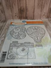 "Fun Stampers Journey Stamp Set - ""Coins and Curls"" Set of 3"