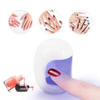 Mini Portable Led UV Nail Dryer Lamp Egg Shape Single Nail Gel Polish Machine 3W