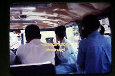 1960's Seoul, Korea, People in Van Bus, Original Slide c20b