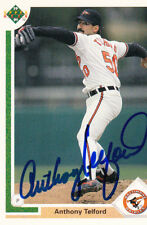 Autographed Signed MLB Baseball Card Anthony Telford Orioles