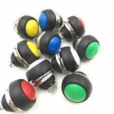 5Pcs 12mm Mini Round Car Boat Switch Waterproof Momentary ON/OFF Push Button FF