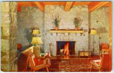 EMIGRANT GAP, CA   Highway 40  NYACK LODGE Interior Roadside  c1950s  Postcard