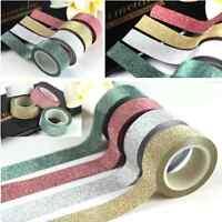 5M Decorative DIY Washi Glitter Sticky Paper Masking Adhesive Tape Scrapbooking