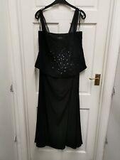 John Charles black evening long dress ball gown Sequin dress size 20 BNWT