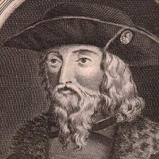 Portrait XVIIIe Arnold de Gueldre Zutphen Arnold van Egmont Bourgogne Pays Bas