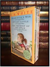 E.B. White Illustrated Box Gift Set New Sealed Charlotte's Web Stuart Little +1
