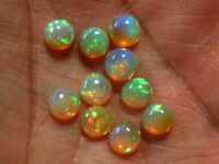 3MM NATURAL ETHIOPIAN WELO FIRE OPAL ROUND CABOCHON CALIBRATED PLAY COLOR DDL12