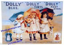 Plaque en métal DOLLY BLUE Edge & sons poupée stick advertising steel sign deco