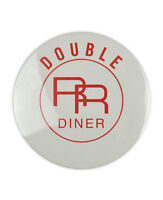 Double RR Diner, Large Twin Peaks inspired Badge, tv prop, david lynch, coffee