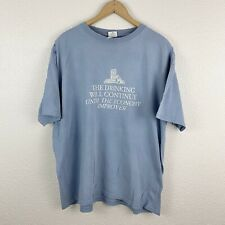 Vintage Vtg Drinking Continues Until The Economy Improves Sz XL Funny Parody Tee