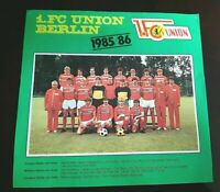 Mannschaftsbild 1985/86 1.FC Union Berlin DDR Oberliga Pokalsieger Foto Poster