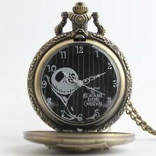 Nightmare Before Christmas Shape Locket Necklace Pocket Watch Steampunk Pendant