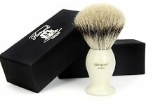 PURE SILVER TIP BADGER HAIR SHAVING BRUSH FOR MEN'S. SUITS ALL TYPE OF SKIN.