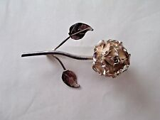 Vintage TAXCO 980 SILVER Flower Brooch Pin SIGNED T8-51 MEXICO Sterling 008C