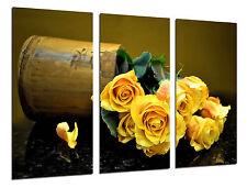 Cuadro Moderno Fotografico Floral Rosas Amarillas Vintage,97x62cm ref. 26367