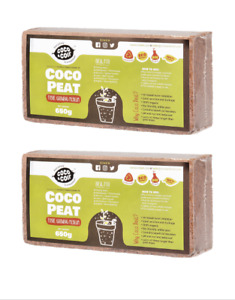 COIR BRICK | 2 x 650g (9L) | PEAT FREE | ORGANIC | COCONUT FIBRE | GROWING MEDIA