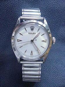 1953 Swiss Rolex Oyster #6022 Jeweler Restored  Excellent 17 Jewel Manual Wind