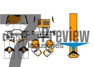 "Lego Star Wars Republic Clone Commando ""Boss"" Waterslide Decals (Pack of 2)"
