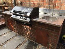 Outdoor stainless steel BBQ kitchen