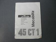 Metz MECABLITZ 45 CT 1 manuale d'uso BDA