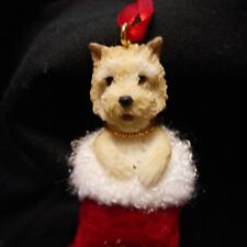 New Santa's Little Pals Cairn Terrier Ornament from E & S Imports