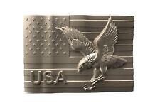 3d STL Model for CNC A114 USA Flag Router Engraver Carving Machine Relief Artcam