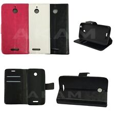 PU Leather Book Wallet Magnetic Flip Case Cover For HTC Desire 510